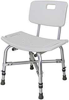 Do4U Extra Wide Heavy Duty Bariatric Bath Bench with Back (with Back, White)