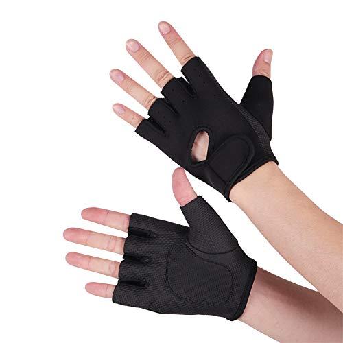 WESDOO Fitness Handschuhe Sporthandschuhe Herren Fitnesshandschuhe für Fitness-Männer Turnhandschuhe für Frauen Black,XL