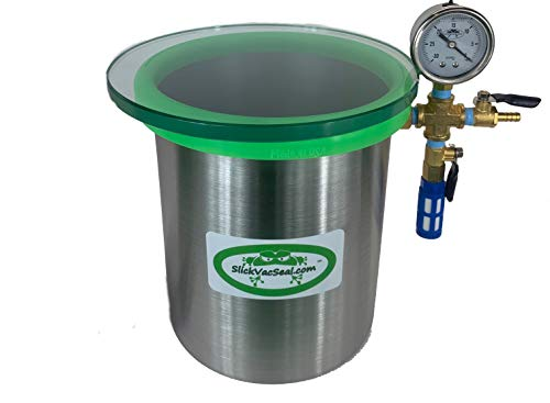 'Built in The USA' : 1.5 Gallon SlickVacSeal Wood Stabilizing Steel Vacuum Chamber