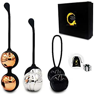 Zen Q Ben Wa Balls for Women Six Premium Kegel Balls for Tightening Doctor Recommended Kegel Exercise Products for Bladder Control Pelvic Floor Weights for Beginners and Pros Benwa Kegal Balls Keigle by Dongguan Mantang Electric Technology Co., Ltd.