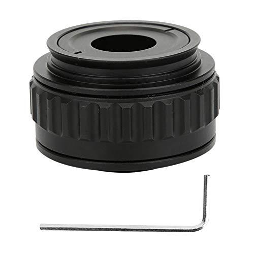 Hyuduo1 Metal+Optical Glass Microscope Adapter, 0.35X CTV Microscope Lens Camera Interface Adapters for Trinocular Stereo Microscope