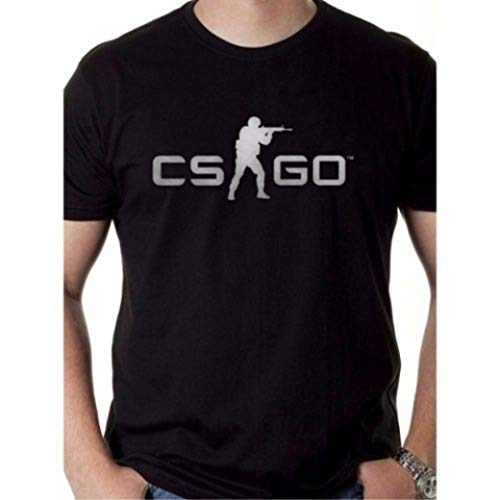 Camiseta Counter Strike Camisa Cs go (preta, gg baby look)