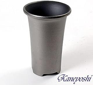 鉢 三河焼 KANEYOSHI 【日本製/安心の国産品質】 陶器 植木鉢 三河焼 長ラン鉢 三河焼 いぶし焼 三河製 4号