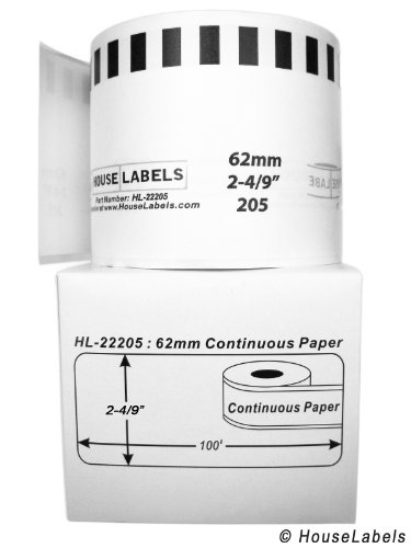Generic Continuous Paper Labels Compatible w/Brother DK2205 (2-4/9