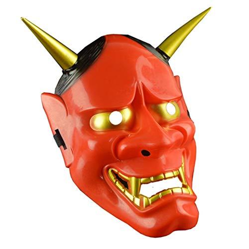 LLF Halloween Geest Masker, Japanse Samurai Ornament, Feestelijke Feest Grappig Masker