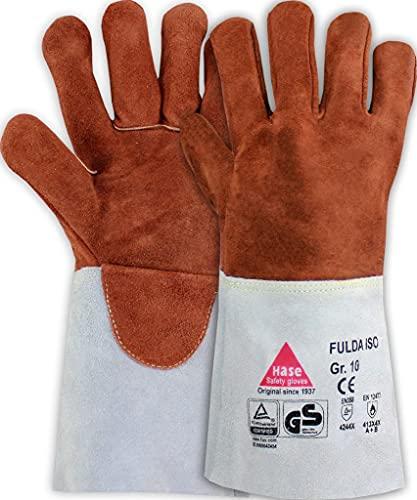 guanti per saldatura Guanti per Saldatura in pelle FULDA - ISO - Guanto da Lavoro per Lavori di Saldatura - Taglian: 8