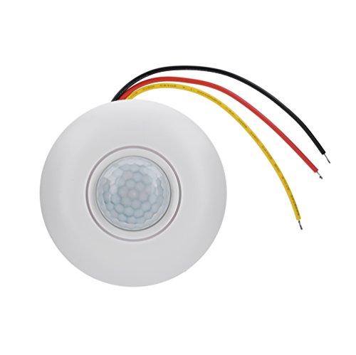 Richer-R PIR bewegingsmelder, automatische 360° PIR bewegingssensor schakelaar met tijdvertraging, LED plafondlamp sensorschakelaar voor gangen, badkamer, kelder enz.