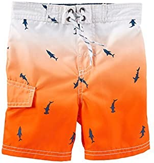 OshKosh B ' gosh Baby Boys ' Ombre Shark Print Swim Trunks