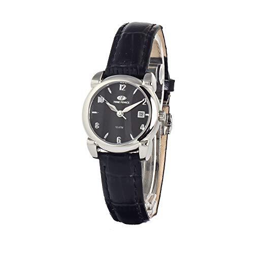 TIME FORCE Reloj Analógico para Mujer de Cuarzo con Correa en Cuero TF2584L-01