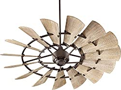 Oiled bronze windmill ceiling fans