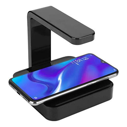 Handy UV Desinfizieren, Kabelloses Ladegerät mit UV-Desinfektion, 5W 10W Wireless Ladeständer mit Ultraviolettem Licht Tragbares Smartphone UV-Sterilisator Handy-Reiniger mit USB-Ladegerät (Schwarz)