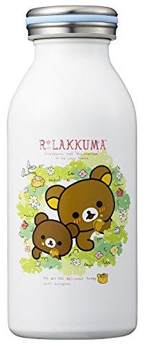 オーエスケー リラックマ(No2) 保温 保冷 ステンレスボトル 350ml ホワイト SBD-350