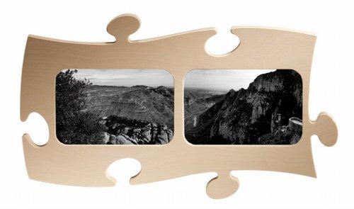 Puzzle Rahmen, 2 mal 10x15cm - natur