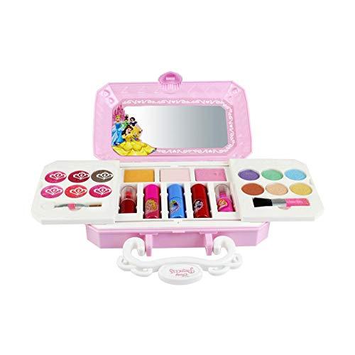 Blue-Yan Disney Cosmetics Toy para niñas, Juego no tóxico Princess Cosmetic Set...