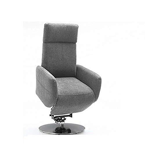 Cavadore TV-Sessel Cobra mit 2 E-Motoren und Aufstehhilfe / Elektrisch verstellbarer Fernsehsessel mit Fernbedienung / Relaxfunktion, Liegefunktion / bis 130 kg / L: 71 x 112 x 82 / Hellgrau