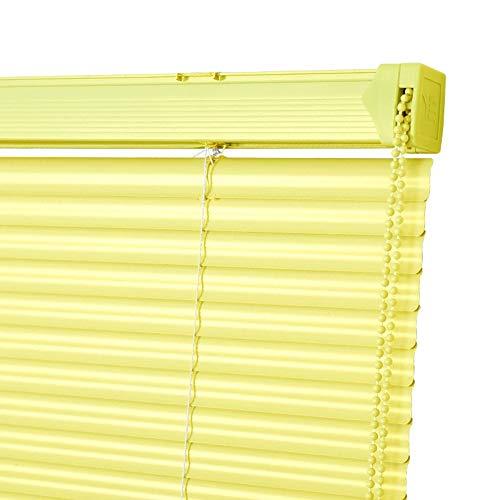Persianas venecianas Opacas Cortinas Enrollables De Color Amarillo con Cable De PVC Listón Sombras, Día Y Noche Ventana Cortinas, Fácil De Instalar, 100cm / 120cm / 130cm Ancho