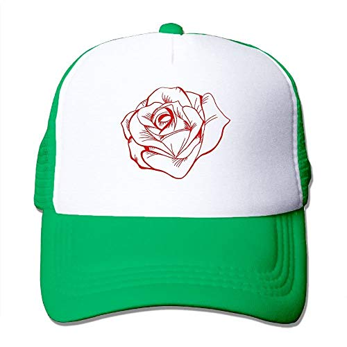 Vintage Rose Tattoo Big Foam Mesh Truck Cap Mesh Back verstelbare pet