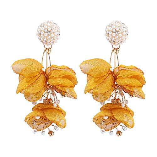 Ai.Moichien Dangle Freshwater Pearls Earrings Gold Plated Flower Resin Jewelry Vintage Prom Bohemia Women Sensitive Ears Accessories