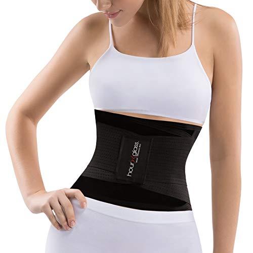 Slim Bauchmuskel-Trainer, Korsett, figurformend, Taillen-Trimmer, Gürtel für Damen, schwarz, M-L
