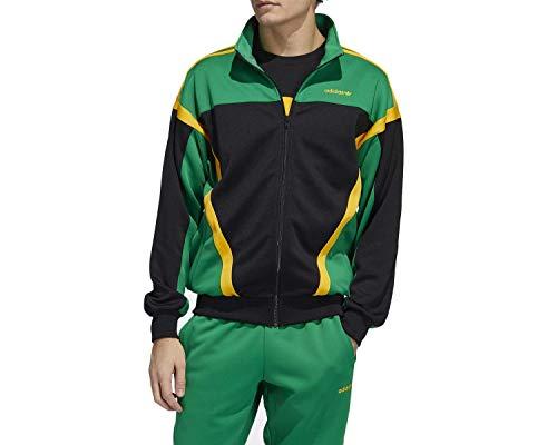 adidas Classics TT Sweatshirt, Hombre, Black/Green, 2XL