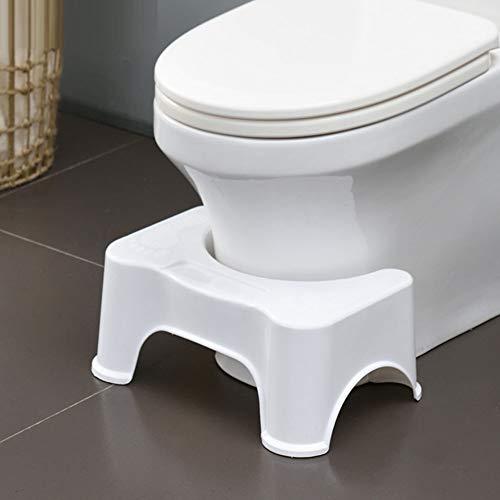 Hurkende wc-kruk Antislip badkamer squat-hulp, zet uw lichaam in een optimale natuurlijke hurkhouding, lengte 40 cm * breedte 26 cm * hoogte 17 cm,White