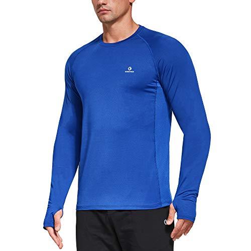 Ogeenier Secado Rápido Camiseta Manga Larga Hombre Camiseta Deporte Running Gimnasio...