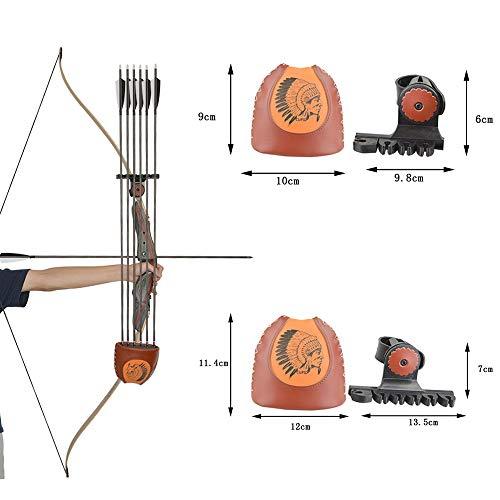 ZSHJG Recurve Bogen Pfeilköcher Pfeilhalter für Jagdpfeile Leder Bogenköcher Detachable Quiver Schnellverschluss Halterung für Bogensport Zubehör
