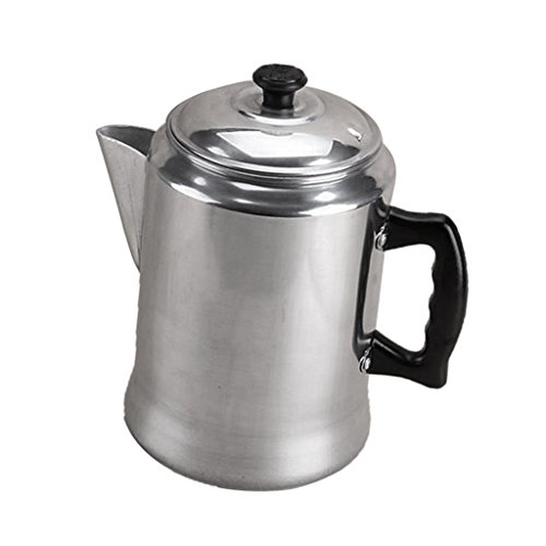 joyMerit Coffee Percolator Coffee Pot - 9 Cup-10 Cup Camping Coffee Pot | Stainless Steel Coffee Percolator, 3L
