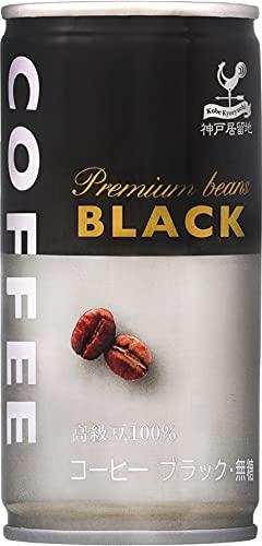 神戸居留地 ブラックコーヒー 缶 185g ×30本 [ 無糖 無香料 レギュラーコーヒー100%使用 国内製造 ]