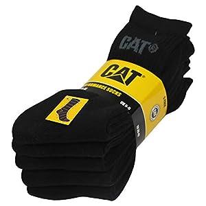 Caterpillar Performance Socks 5 pares de calcetines para hombre, hilo de algodón de excelente calidad, plantilla y empeine de felpa, puntera y talón reforzados