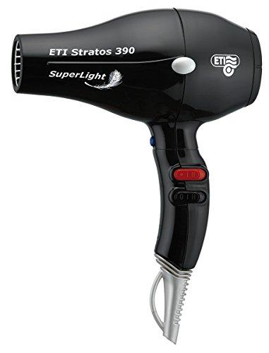 'ETI Asciugacapelli'Stratos 390Superlight 2000–2200W 485gr NERO