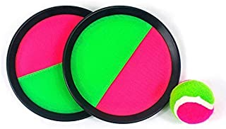 "Mseeur ball Paddle Catch and Toss Game Set- 7"" Handheld Stick Disc - Assorted colors"