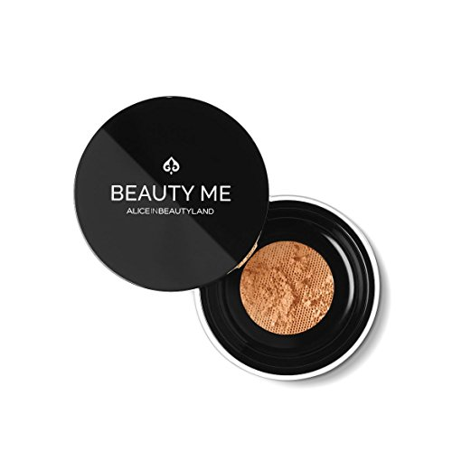 Mineral Makeup Foundation Makeup Powder Handcrafted with Diamond, Ruby, Moonstone, Amethyst and Pearl dust. BEAUTY ME - 100% Natural - For All Skin Types - 7 Clubs - 7g by Alice in Beautyland