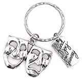 It's All About...You! Find Joy in The Journey Comedy Tragedy Mask Theatre Actor Actress Inspirational Broadway Musical Director Drama Teacher Gift Keychain 112X