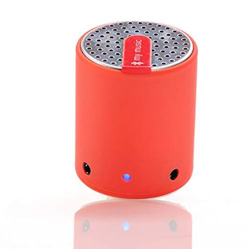 qiyanMini Súper portátil Bluetooth 3.0 Altavoz Manos Libres inalámbrico Micrófono para Bajos Mejorado Cilindro Bluetooth Creativo Altavoces en Altavoces portátiles Rojo