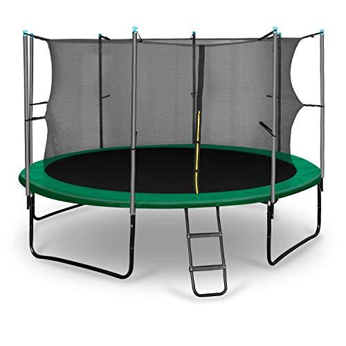 Klarfit Rocketstart 366 Cama elástica trampolin con Red de Seguridad...