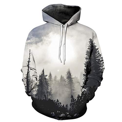 Most Beautiful Forest Deer Head Tree 3D Printing Men Hooide Trend Hoodies LMS215 L