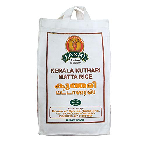 Laxmi Brand Traditional Indian Kerala Kuthari Matta Rice, Nutritious and Healthy Rices, Tradition of Quality, Product of India (10lb)