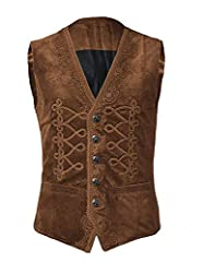 Material: polyester,comfortable fabric,soft cozy to wear. This vest is made from high quality fabric, soft and durable Fastening: Buttoned, five functional buttons in the front. This jacket is suitable for all kinds of formal and informal occasions, ...