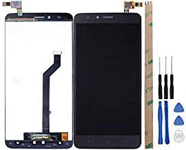 HYYT Replacement for ZTE Blade X Max Z983 LCD Screen Touch Digitizer Assembly for Broken Screen (Black)