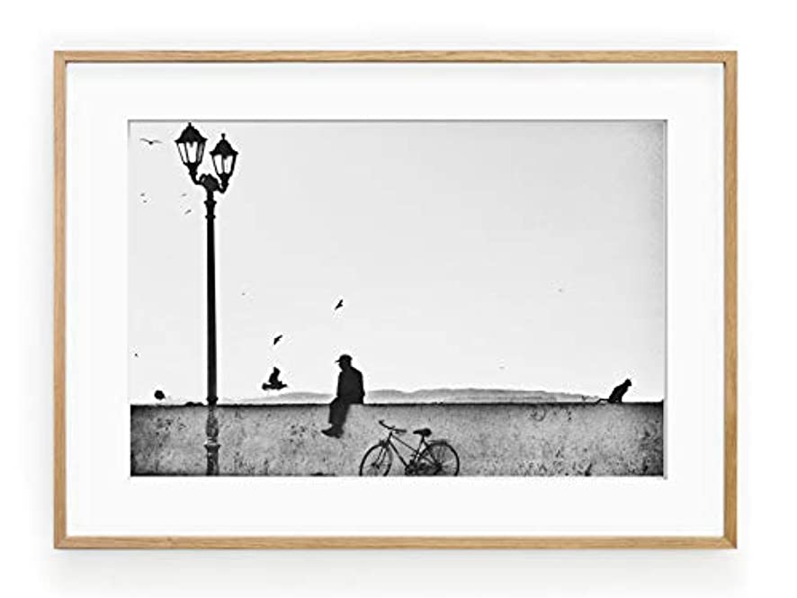 Essouira Solid Oak Frame with Mount, Multicolored, 30x40