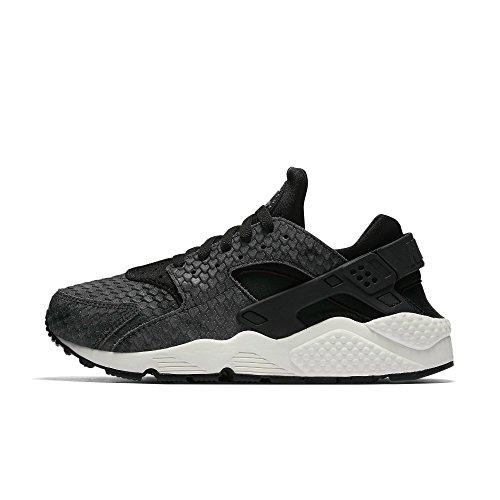 Nike SportswearAIR Huarache Run Premium - Sneakers Basse - Black/Sail/Dark Grey