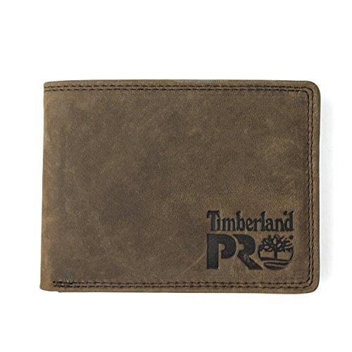 Timberland PRO Leather RFID Wallet with Removable Flip Pocket Card Carrier Portafogli, Marrone Scuro/Pullman, Taglia Unica Uomo