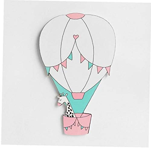 3d Wooden Hot Air Balloon Wall Stickers Nordic Newborn Baby Bedroom Diy Craft Decoration Photo Props 1pc (random Style)