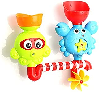 Dorakitten Baby Bath Toy Suction Cartoon Interactive Funny Creative Bath Wall Toy Bathing Water Toy Waterfall Toy for Bath...