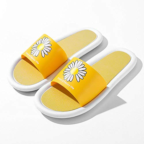 Light Weight Non-Slip Slide Sandals,Plastic anti-skid wearing slippers, bath home sandals-turmeric_38-39,Spa Slippers For Indoor Home