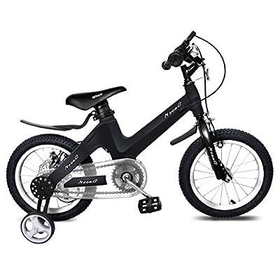 "NiceC BMX Kids Bike with Dual Disc Brake for Boy and Girl 12-14-16-18 inch Training Wheels (14"" Black)"