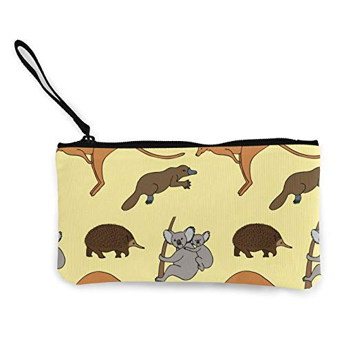 XCNGG Geldbörsen Shell Aufbewahrungstasche Cute Kangaroo and Koala Fashion Coin Purse Bag Canvas Small Change Pouch Multi-Functional Cellphone Bag Wallet Cosmetic Makeup Bag