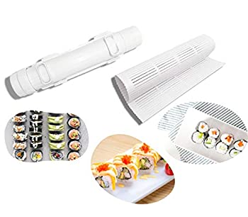 Sushi Roller Kit Sushi Bazooka Plastic Sushi Making Mat Durable Camp Chef Food Grade Plastic Health And Safety Sushi Rice Roller Maker Machine Mold For Cooking Sushi Rolls Tool Maker For Beginner