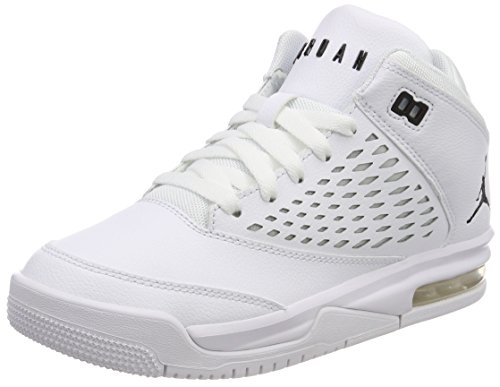 Jordan Unisex Flight Orgin 4 (GS) Fitnessschuhe, Weiß (White/Black 100), 36 EU